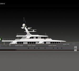 Codecasa Shipyards to launch Codecasa 42 Vintage motor yacht Hull F 75 on Thursday