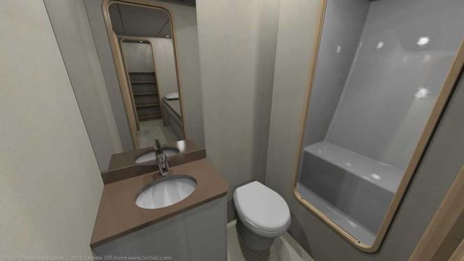 Dashew FPB 78 Yacht - Bathroom