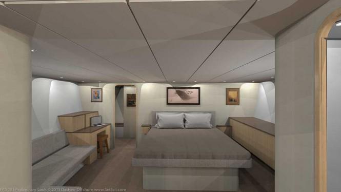 Dashew FPB 78 Yacht - Cabin