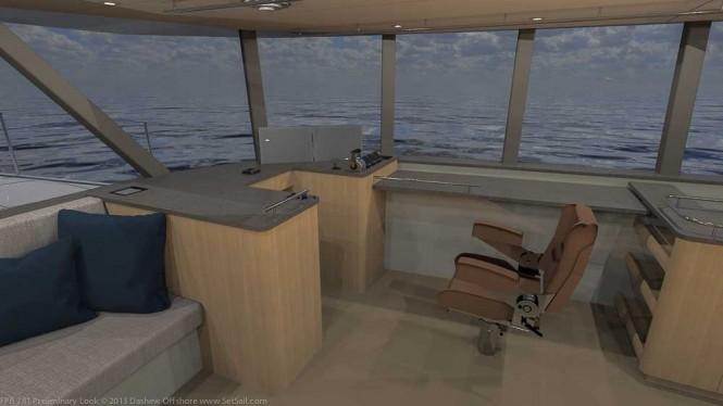 Dashew FPB 78 Yacht - Navigation Desk