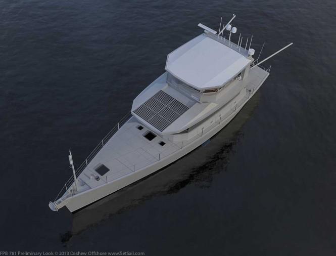 Dashew motor yacht FPB 78 - upview