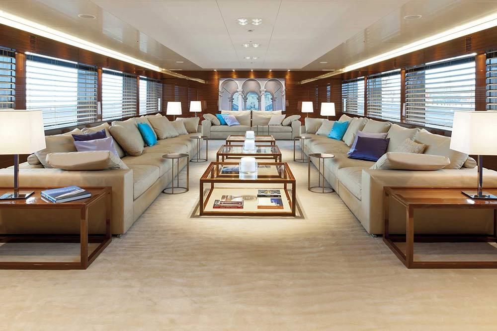 Hanseatic mega yacht Smeralda - Interior — Yacht Charter ...