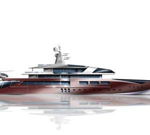 Latest 70m mega yacht concept designed by Joachim Kinder