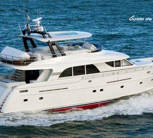 Guido de Groot designed Mulder 73 Flybridge motor yacht BOONOOROO II arrives in Australia