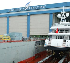 NB56 motor yacht ILERIA launched by Proteksan Turquoise
