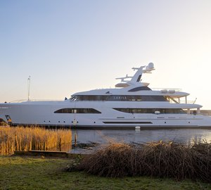 One of the 2013 Feadship launches - the 57m superyacht Larisa