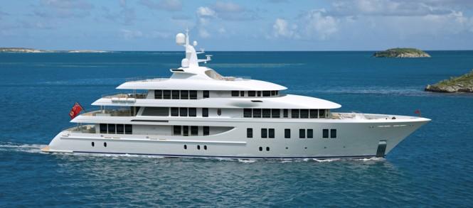 Rendering of 66m Delta Marine mega yacht Invictus (Project Invader, hull 211042)