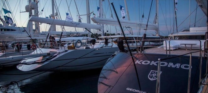 Twilight and Kokomo anchored in Porto Cervo, Sardinia