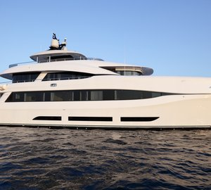 Recently delivered 34m Curvelle luxury yacht QUARANTA