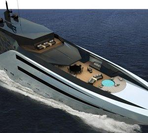 65m modern explorer yacht ANACONDA concept by Young Designer of the Year finalist 2013 Juan Ortiz Rincon