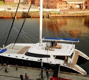 Premiere and first sea trials for 80 Sunreef Carbon Line sailing yacht LEVANTE