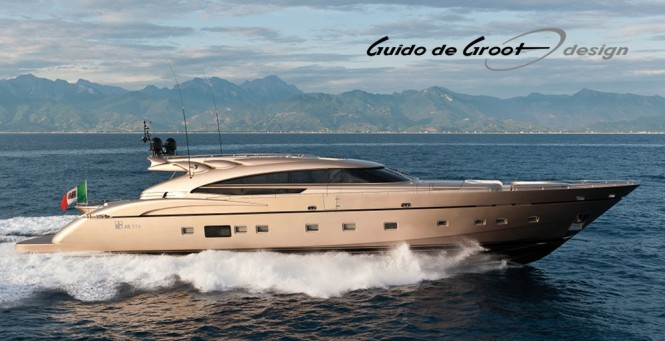 AB116 superyacht Diamond by AB Yachts - Fipa Group with interior design by Guido de Groot