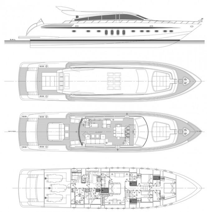 Azul 31 Yacht Special K - Layout