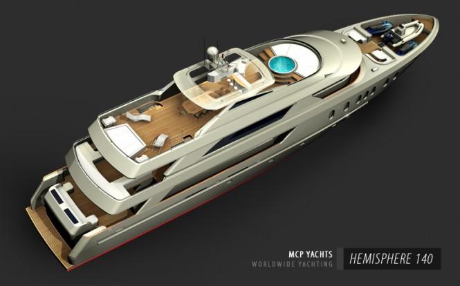 Hemisphere 140 Yacht - upview