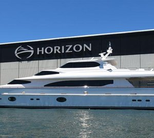 Horizon RP105 motor yacht AGORA to embark on maiden voyage to Japan today