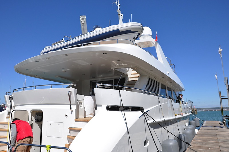 Infinity superyacht - Finished following a refit - Image courtesy of Goodacre Boat Repairs and Refits