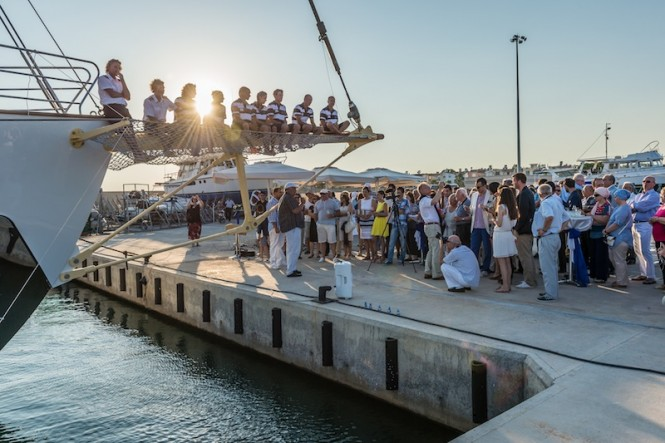 Launch of luxury sailing yacht CHRONOS