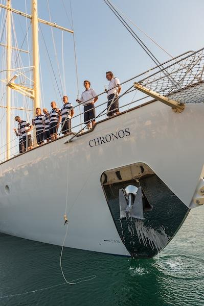 Launching of Chronos yacht