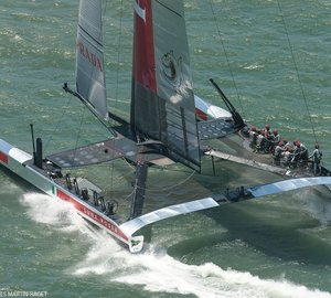 One point for Luna Rossa Challenge at Louis Vuitton Cup