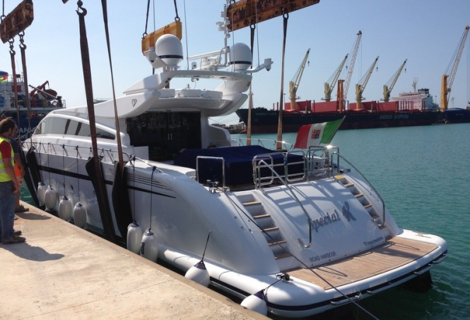 Luxury motor yacht Special K on the water