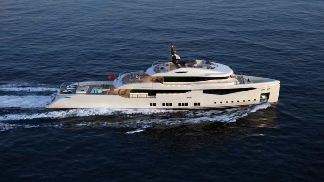 RMK 5000 Explorer Yacht Concept - Upview