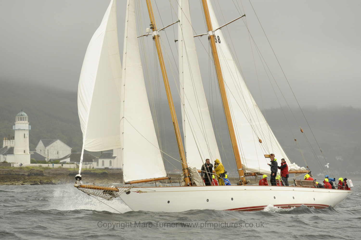 Sailing yacht Astor on the Clyde Day 2