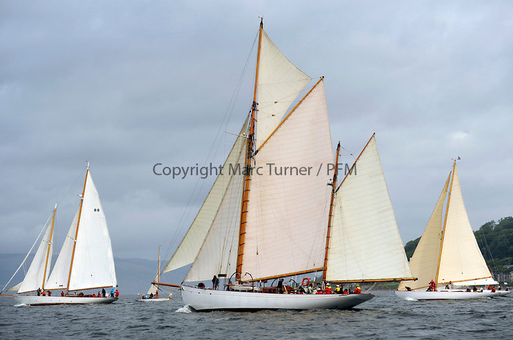 The final day of racing of the Fife Regatta on the King's Course North of Great Cumbrae