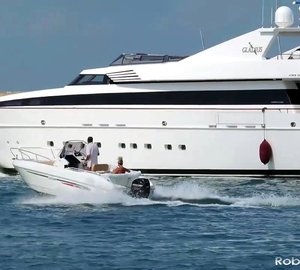 Video of motor yacht GLADIUS leaving port of Livorno in Italy