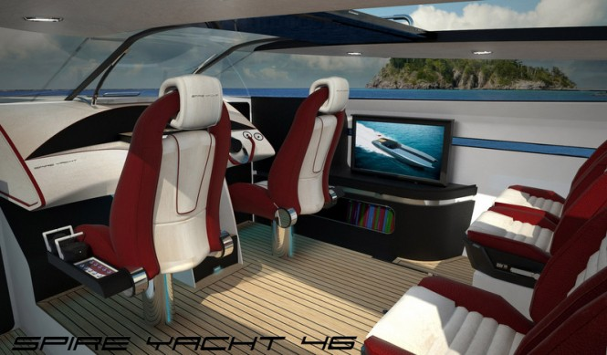 Aboard SPIRE YACHT 46 mega yacht chase boat