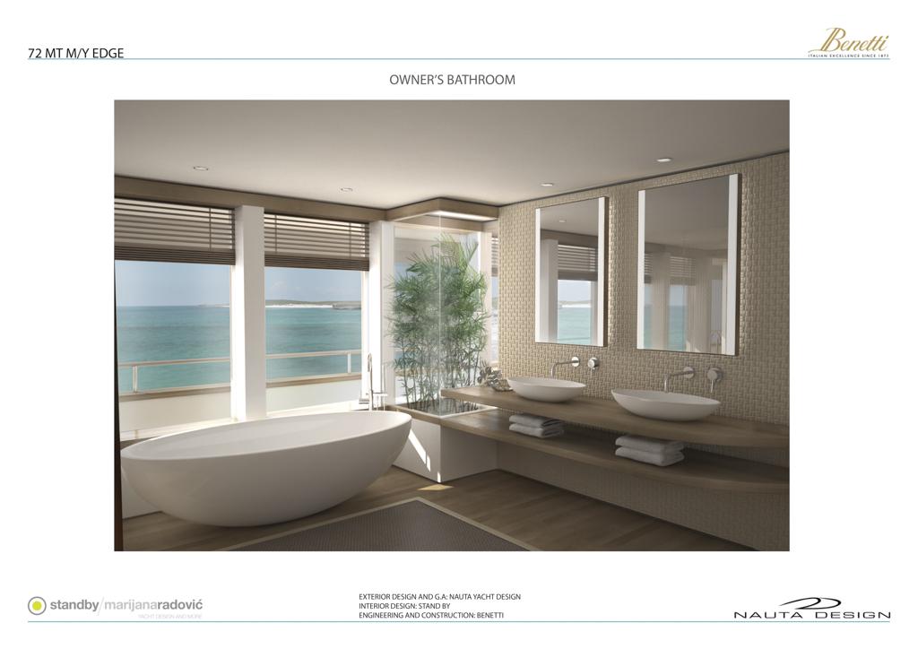 Benetti Nauta EDGE 72 yacht - Owner's Bathroom