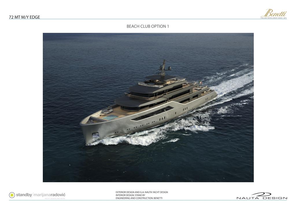 Benetti Nauta Motor Yacht EDGE 72 - Beach Club Option 1