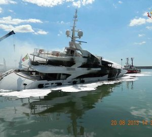 Benetti releases Official Update on FB261 Yacht damaged in fire