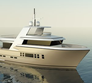 Keel laying of Drettmann's new 24m Explorer Yacht at Acico in the Netherlands