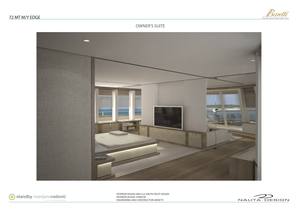EDGE 72 yacht concept by Nauta Yachts for Benetti - Owner's Suite