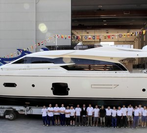 Launch of the first motor yacht Ferretti 750