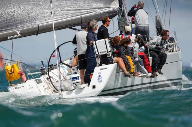 FleetBroadband 150 on La Reponse skippered by RORC Admiral, Andrew McIrvine Credit- Paul Wyeth