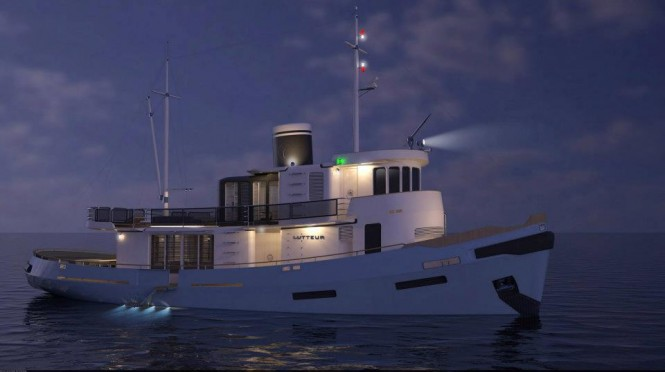 Le Lutteur Yacht by night