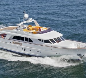 Mulder 92 Flybridge motor yacht MIMI sails from Egypt to Barcelona