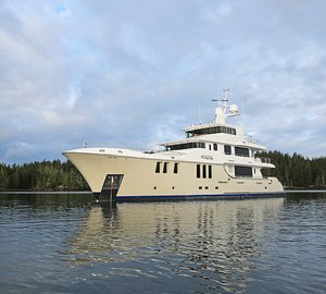 New photos of N120 Yacht AURORA due to arrive in Vancouver tomorrow