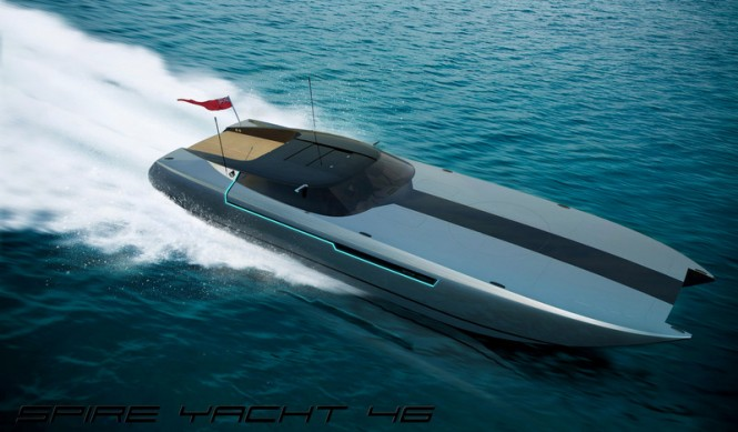 SPIRE YACHT 46 superyacht chase boat by Spire Boat and Henry Ward