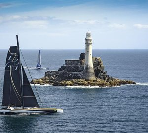 Rolex Fastnet Race 2013: 131ft superyacht Spindrift 2 first to round the Fastnet Rock