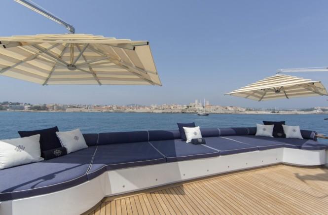 aboard superyacht MOSAIQUE