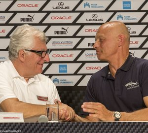Luna Rossa Challenge and Artemis Racing on Louis Vuitton Cup Semifinal