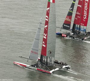 Emirates Team New Zealand standing two wins away from becoming Louis Vuitton Cup 2013 Winner