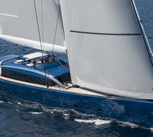 Debut of 48m Arzana Navi sailing yacht NATIVA at Maxi Yacht Rolex Cup 2013