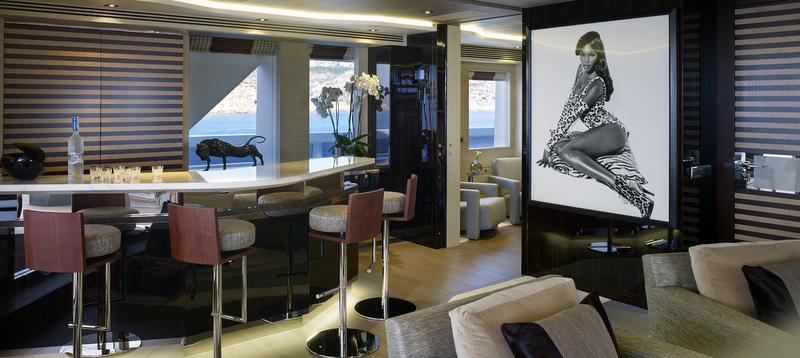 Luxury yacht Galactica Star - Bar