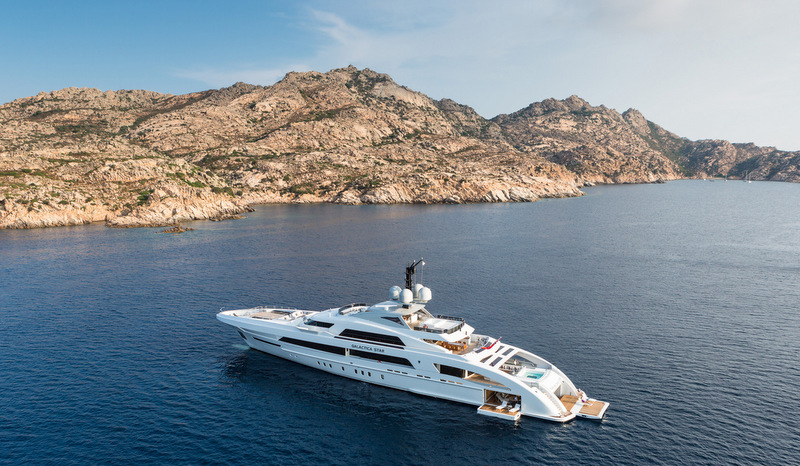 Mega yacht Galactica Star - upview - Photo by Jeff Brown
