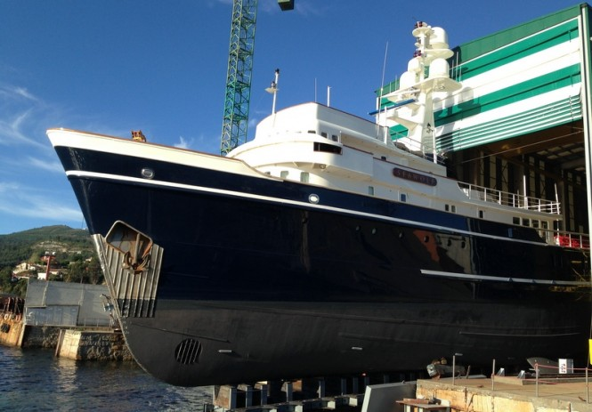 Expedition charter yacht Seawolf at Atollvic yard