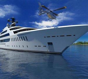 Impressive 100-metre mega yacht ELLE concept by Azure Yacht Design & Naval Architects