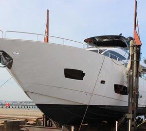 New 28m Sunseeker motor yacht MERRICK hosted by Solent Refit